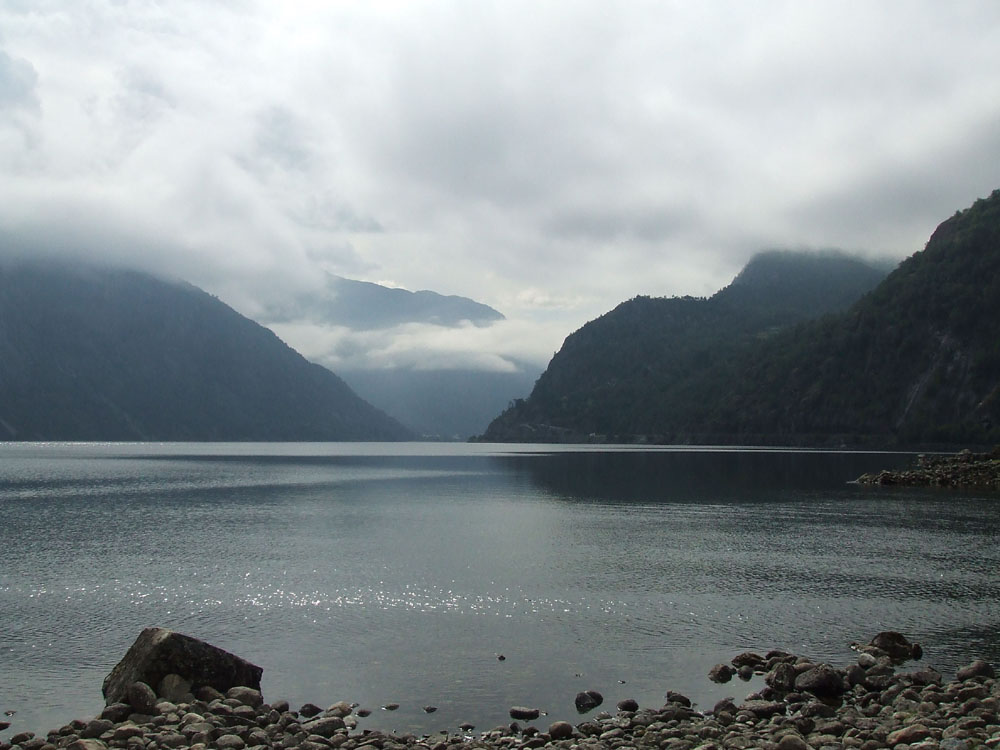 The Fjords in Norway. Seen from the cruise ship Arcadia
