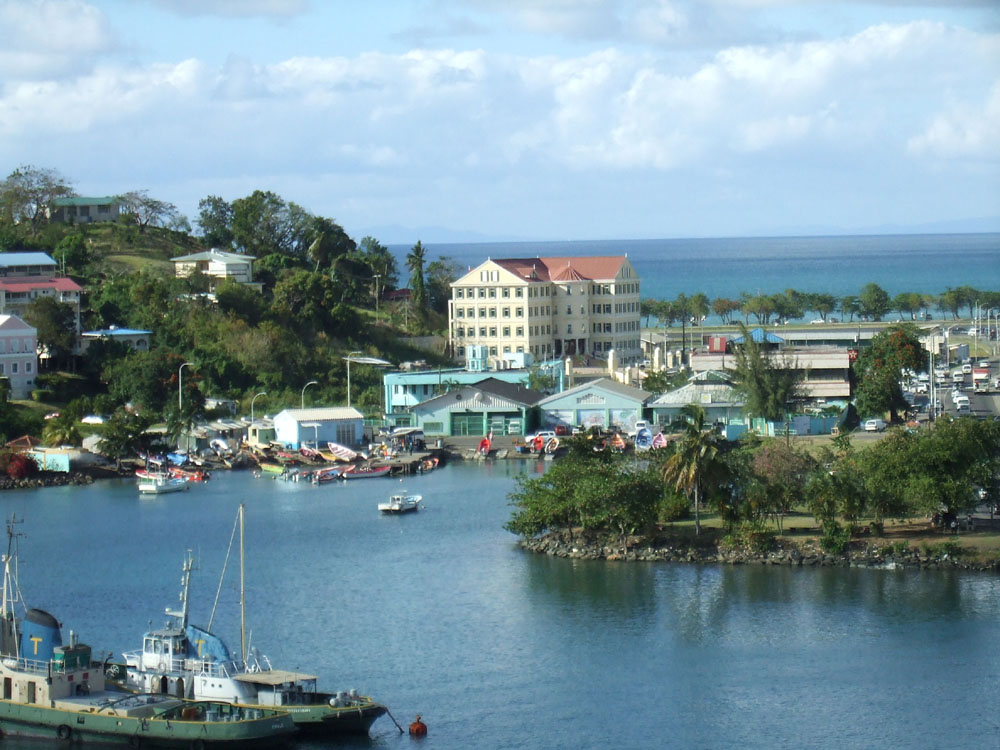 View of St Lucia from the P & O cruise ship Oceana