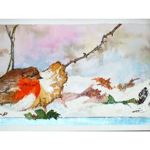 Christmas Robin (Original Watercolour) - £55