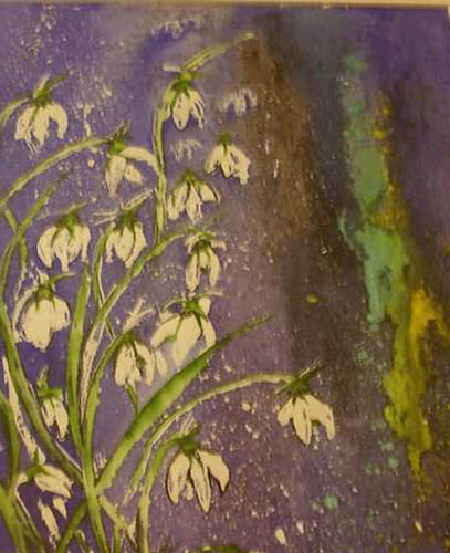 Snowdrops (Mixed Media)