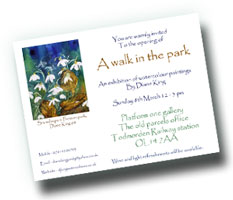 Walk in the Park Invite