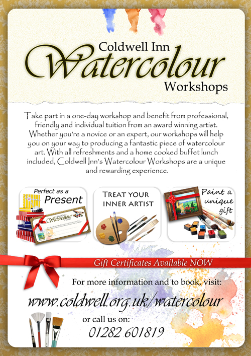 Coldwell Inn Watercolour Workshops Poster