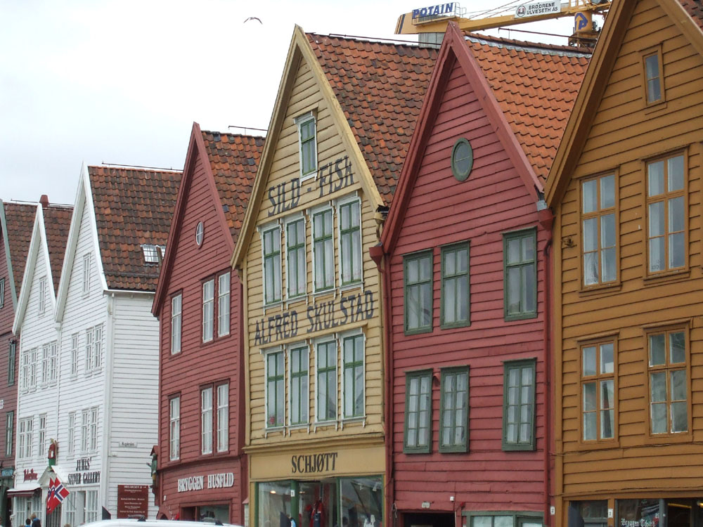 Outside wool shop Bergen